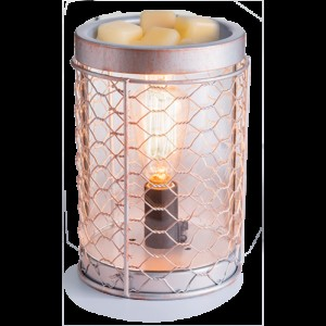 Аромасветильник Candle Warmers Металл и лампа Эдисона /Chicken Wire Edison Bulb Illumination